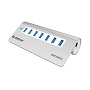 Orico Silver Stylish 7 Port USB3 Powered Hub (AL)