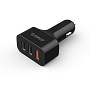 Orico Black UCH-2U1Q Cigarette Lighter To Three USB Charge Ports