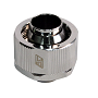 "Swiftech Chrome 1/2"" x 3/4"" Brass Lok-Seal G1/4"" Compression Fitting"