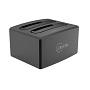 "Cruxtec Dual Bay USB 3.0 To SATA 3.5"" & 2.5"" Hard Drive Docking Station With Clone Function"